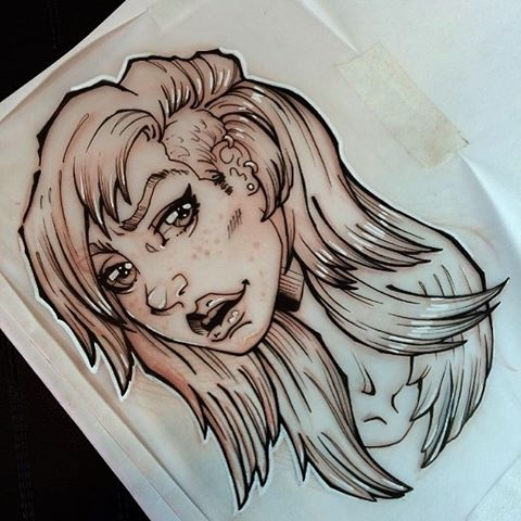 Girl head sketch